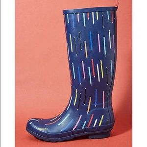 NEW Anthropologie Colloquial Rain Boots